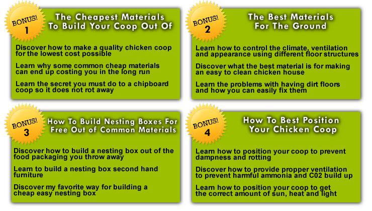 building a chicken coop bonus