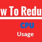 Ways to reduce the CPU usage