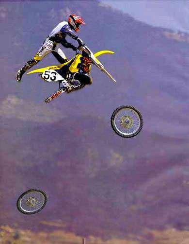 flying bike landing