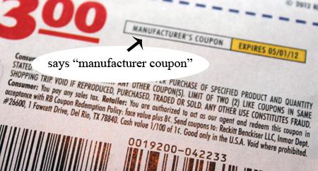 Manufacturer Coupons