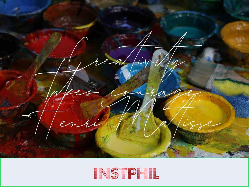 "Henri Matisse art quote ""Creativity takes courage"""