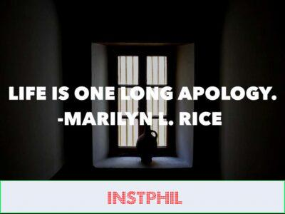 Marilyn L Rice apology quote