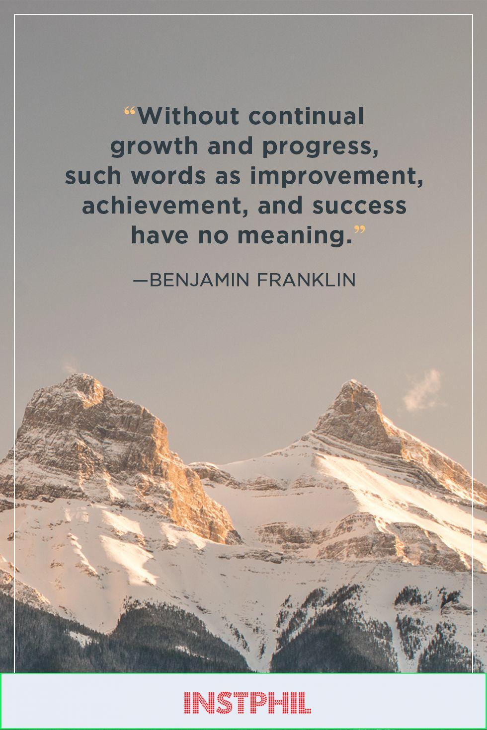 benjamin franklin success quote