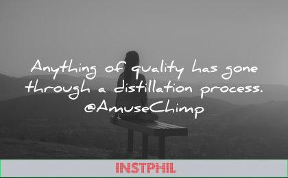 best quotes anything quality through distillation process amuse chimp wisdom woman sitting