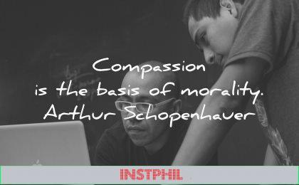 compassion basis morality arthur schopenhauer wisdom men laptop working