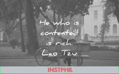 simplicity quotes who contented rich lao tzu wisdom