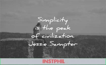 simplicity quotes peak civilization jessie sampter wisdom woman sitting nature