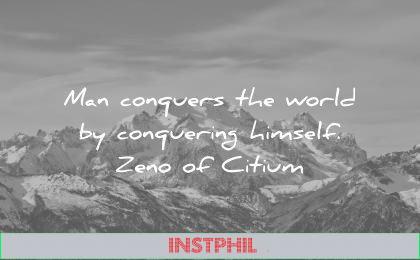 stoic quotes man conquers world conquering himself zeno of citium wisdom